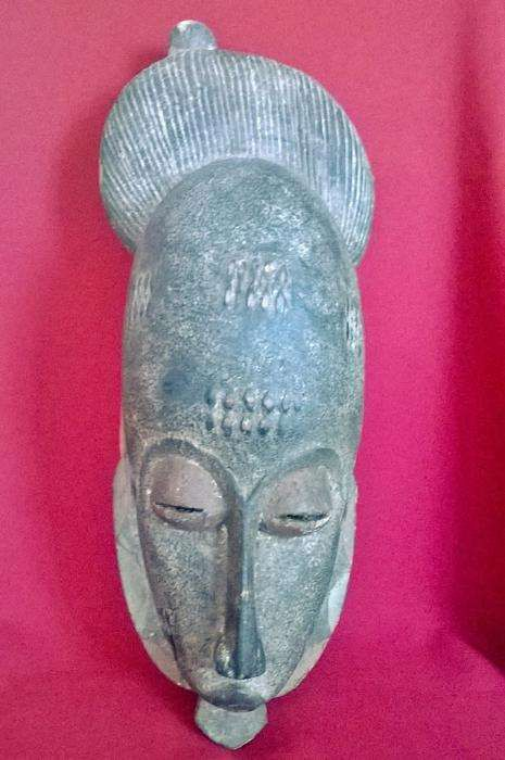 70 €: Máscara da etnia Baule da Costa do Marfim, 44cm
