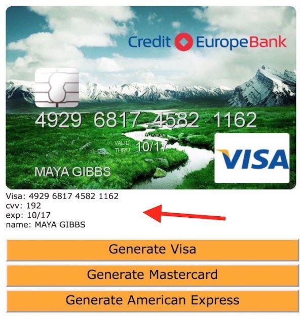 Free Fake Credit Card Numbers Generator Websites | Visa