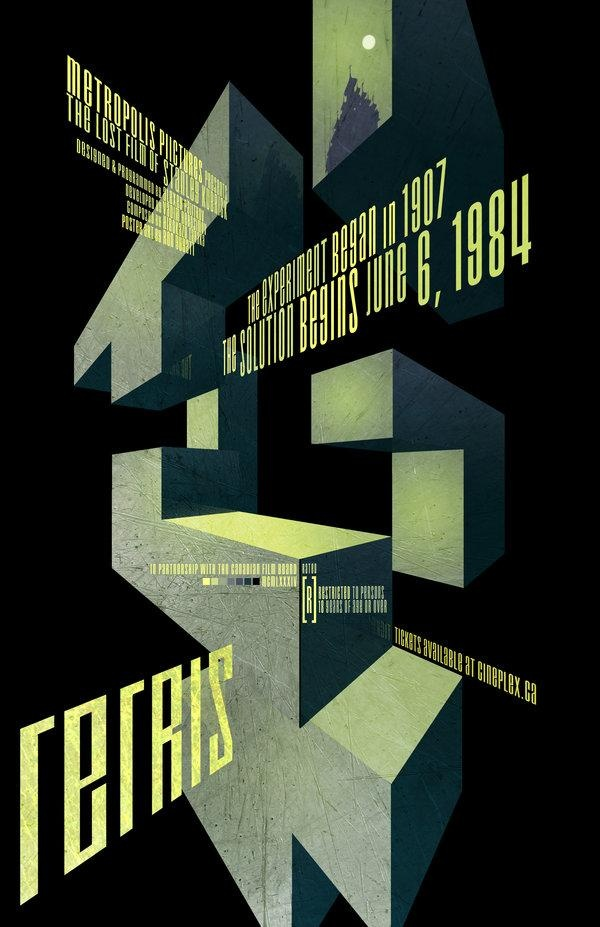 Futurist style - video Games Illustrated Promo Poster