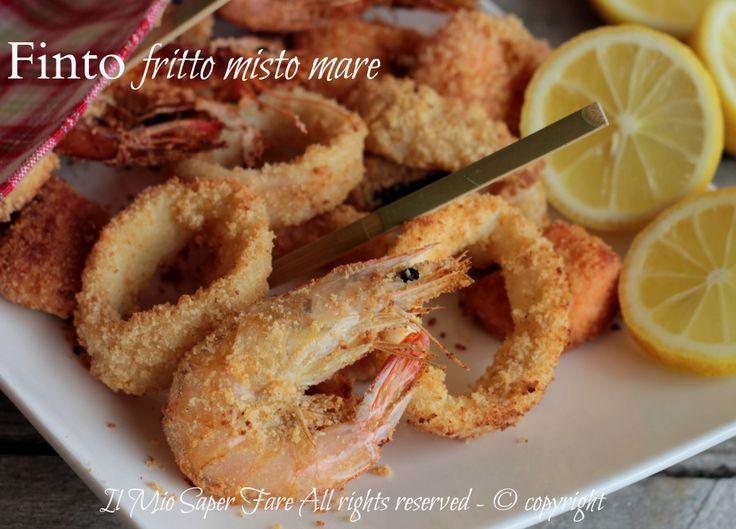 Finto pesce fritto al forno misto mare leggero ricetta il mio saper fare