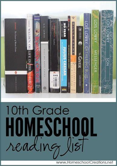 10th grade homeschool reading and literature list - Homeschool Creations