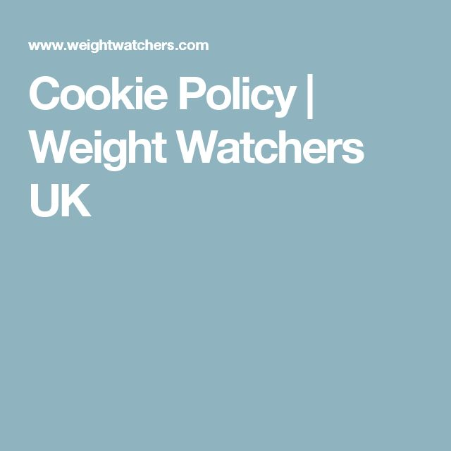 Cookie Policy | Weight Watchers UK