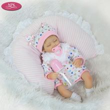 NPK 40 CM Silicon Rebon Poppen Meisjes Levensechte Pasgeboren Babies Speelgoed Soft Touch Doek Lichaam Alive Baby Bonecas Reborn Bebe De Silicona(China)
