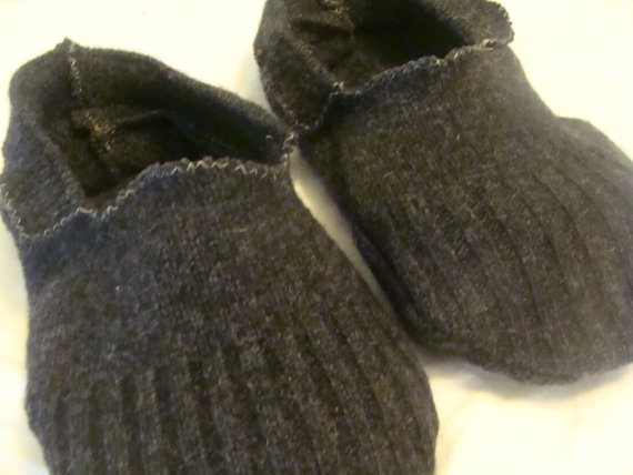 Wool Slipper Socks Made From Repurposed Sweaters by earthluv, $10.00  These look so Renaissance.
