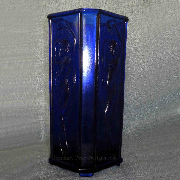 S Art Deco Glass Vase