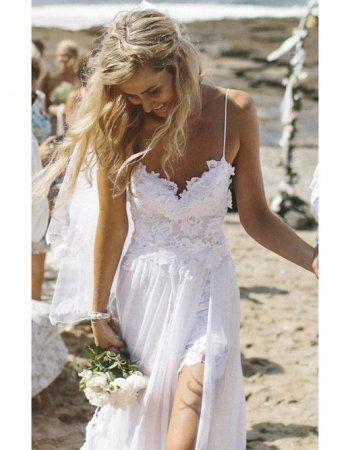 Sexy Strandhochzeitskleid