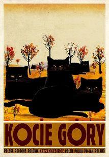 Ryszard Kaja - Kocie Góry, polski plakat turystyczny