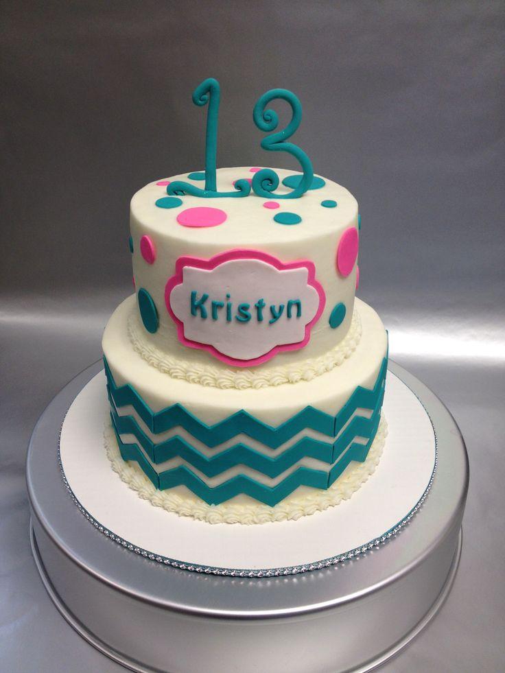 A Pretty 2 Tiered Gluten Free Birthday Cake Design For 13