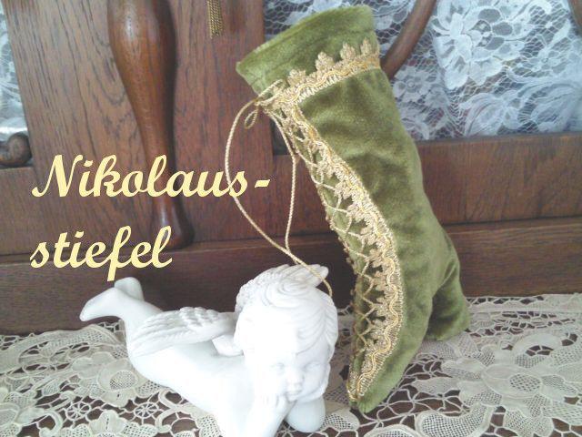 Nikolausstiefel - ♥ Viktorianische-Stiefelette 14-01 - ein Designerstück von raritaeten-kammerl bei DaWanda