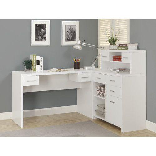 Monarch Specialties Inc. Corner Desk With Hutch