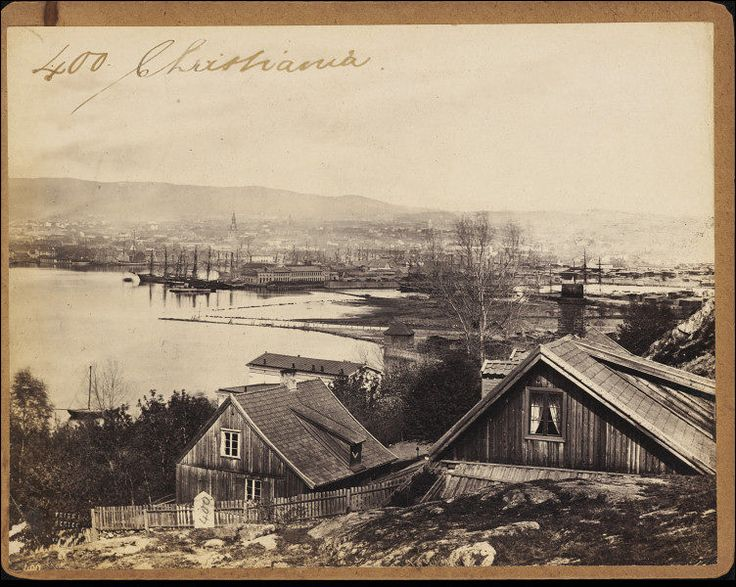 Oslo Harbour, 1850s-1870s My great, great grandmother immigrated from Norway to America in the early 1860s. I suppose she set sail from this harbor, looking very much the same. Sweet.