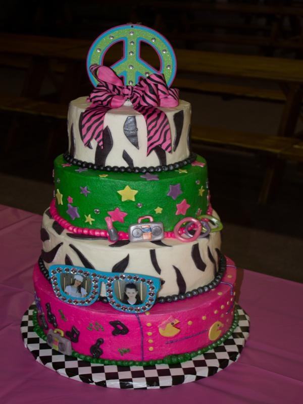 theme Birthday Cake: 80 S Party, Amazing Cakes, 80S Themed, 80S Party ...