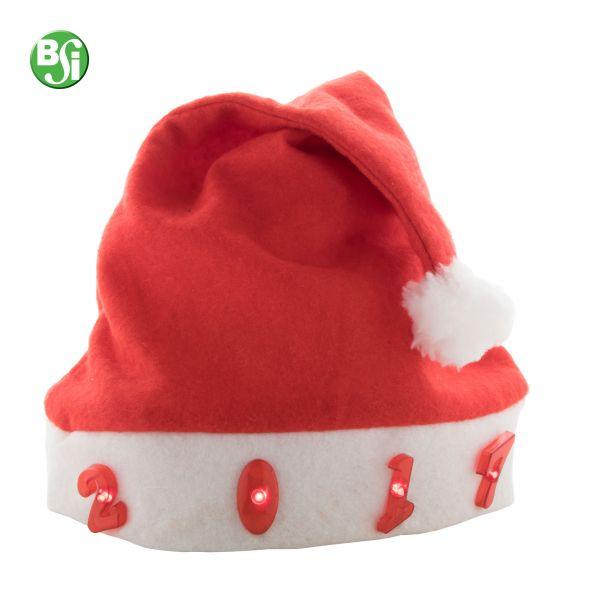 Cappello di Babbo Natale con musica di Natale e 4 LED.  #gadget #cappellodinatale #babbonatale #gadgetpersonalizzati #luci #gift #omaggiopersonalizzato