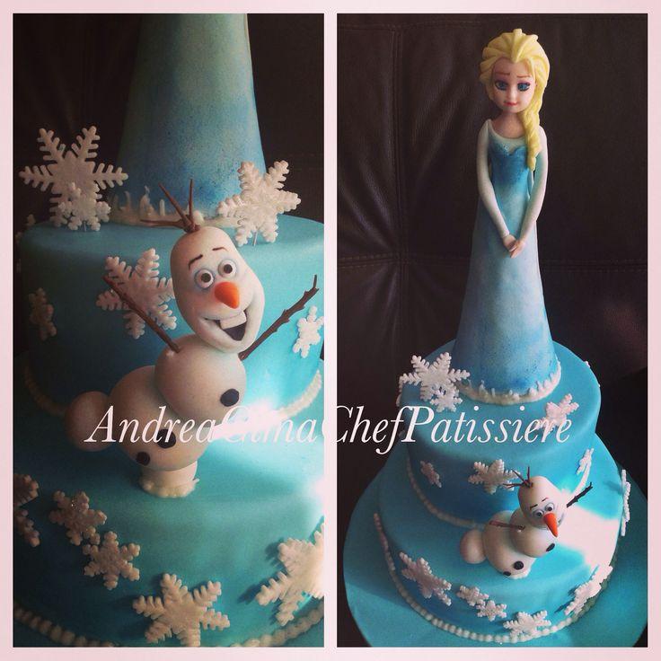 Frozen cake, Elsa, Olav