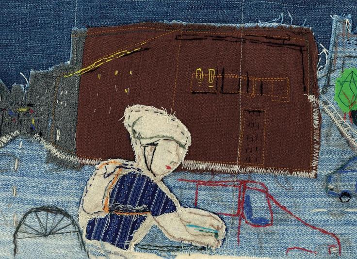 Voy de Fran Robles, ilustraciones textiles :)