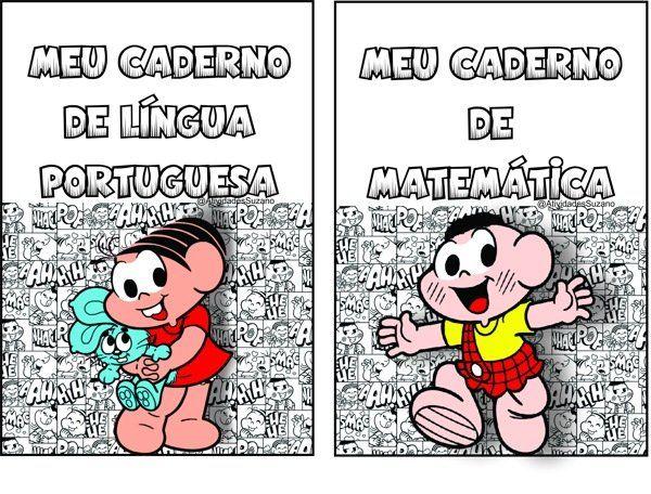 Capas De Caderno Turma Da Monica Coloridas Atividades Suzaninho