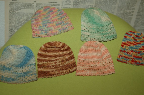 Six Vintage Crocheted Kitchen Helpers Baby Doll Hats: Dolls Hats, Baby Dolls, Helper Baby
