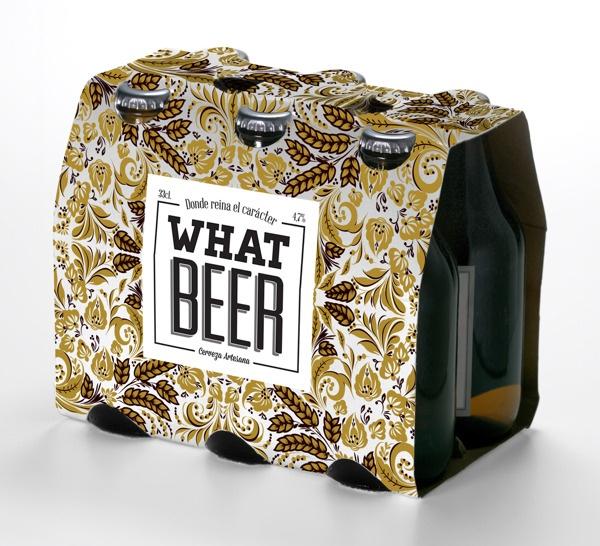 PACKAGING: Logo i ampolla vestida per What Beer by Lidia Torrents Pont, via Behance