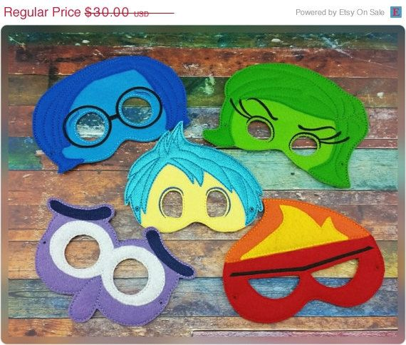 ON SALE Feelings Mask Set Inspired By Inside Out  por 6gEmbroidery