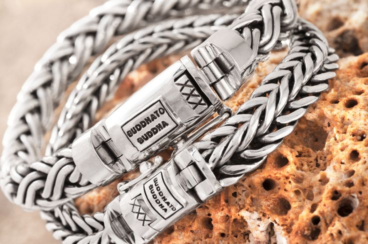 These Buddha to Buddha sterling silver chain detail bracelets make the perfect pair