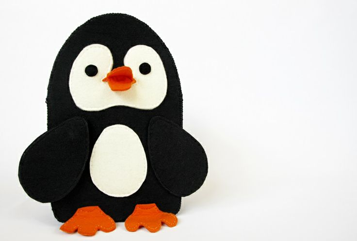 penguin backpack - 100% handmade. Very original, very creative