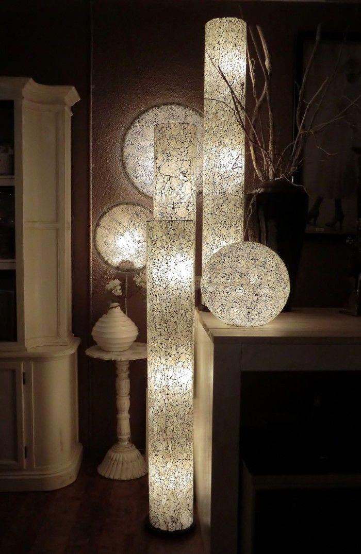 Sfeerverlichting glaslampen van gerecycled glas. 5 foto's voorzien van prijzen.