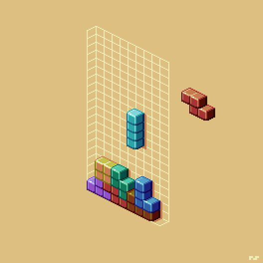Tetris - pixel art