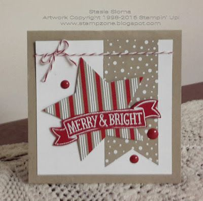 Stampin' & Scrappin' with Stasia: Stripe Challenge - SU - Christmas - Stitched with Cheer