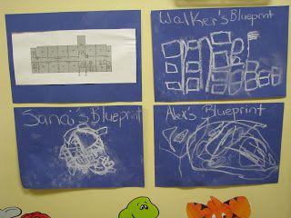 Blue print art activity