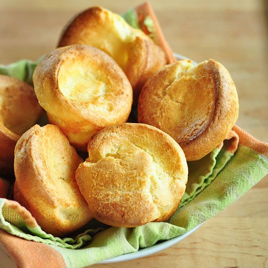Pop overs - might try these with gluten free flour as not overly dependent on gluten in the making.