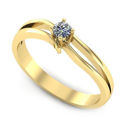 Inelul este realizat din: * Piatra principala: 1 x diamant, dimensiune: ~2.80mm, greutate: 0.08ct , culoare: G, claritate: VS2, forma: round