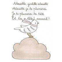 Tarjeta Comptine Alouette by Henriette L'alouette de Châtillon