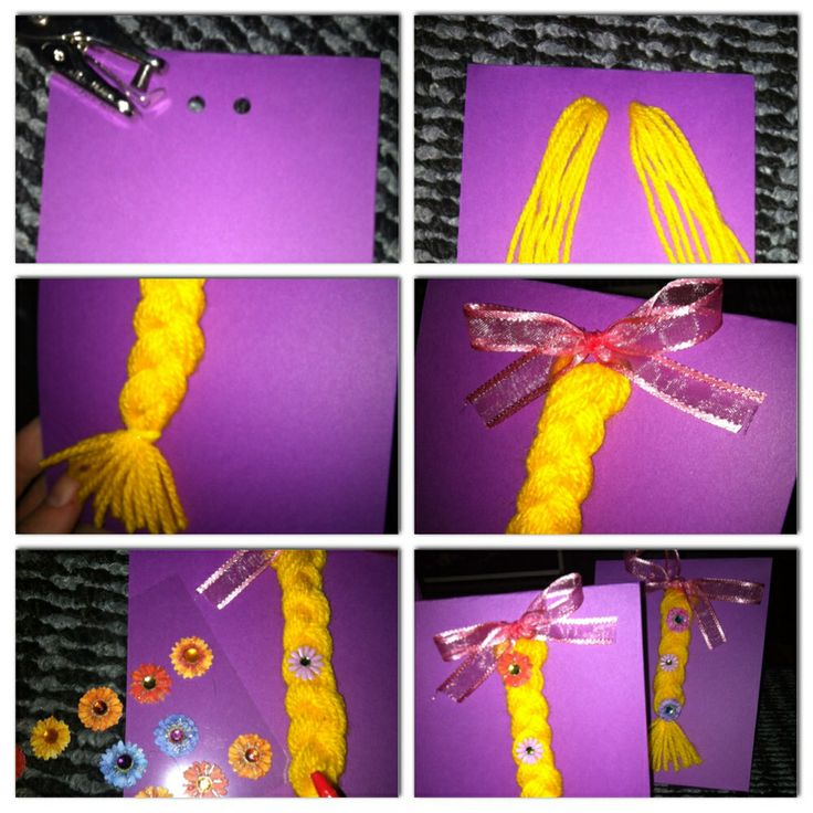 DIY Rapunzel invitations made by me. Idea from Pinterest.