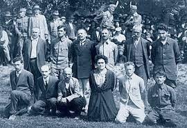 A Tolna megyei direktórium tagjai kivégzésül előtt.