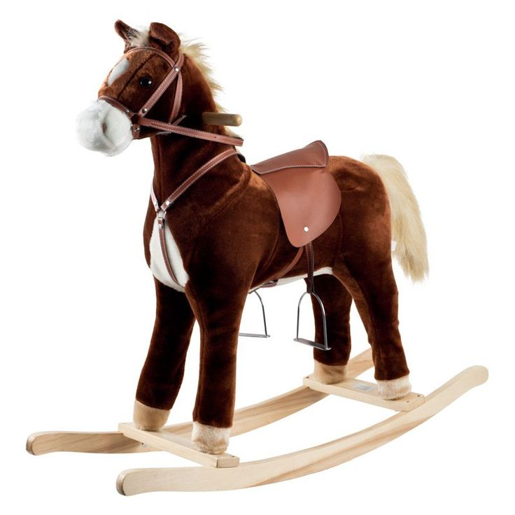 Have to have it. Happy Trails Plush Rocking Horse - $79.95 @hayneedle