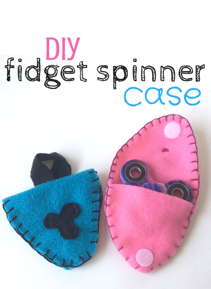 DIY Fidget Spinner Case Kids Craft - The Crafting Chicks