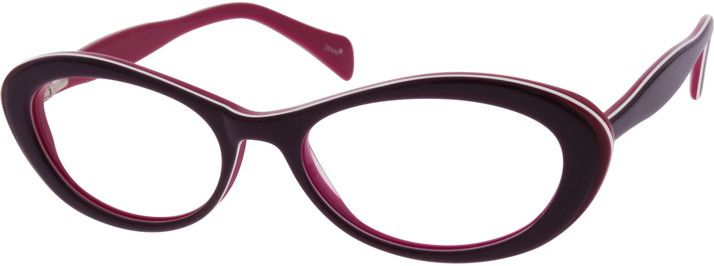 Zenni Optical Heart Glasses : Acetate Full-Rim Frame with Spring Hinges 637317 ...