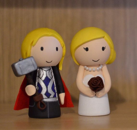 Wedding Cake Topper Marvel Thor Inspried Custom Made