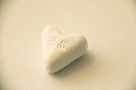 DIY clay heart