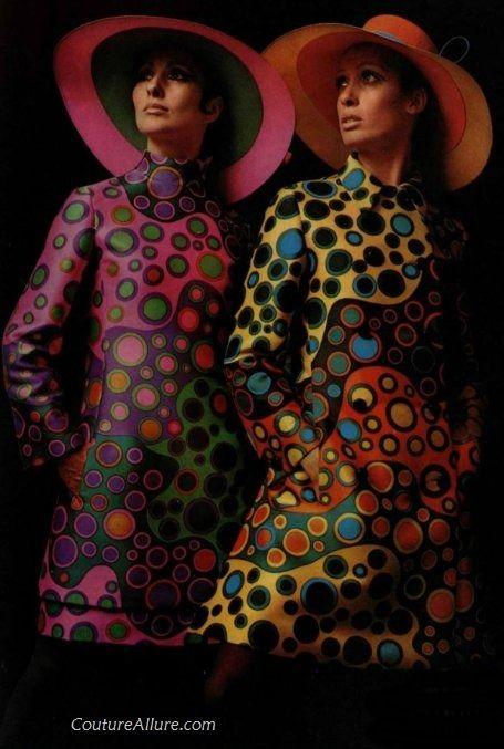 Jeanne Lanvin, 1968. Psychedelic prints. Hoạ tiết sống động với màu sắc nổi bật…