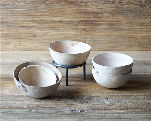 Natural Gourd Bowl w/ Stand