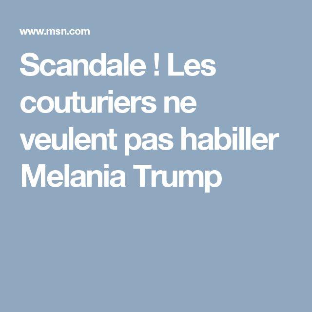 actualite monde scandale couturiers veulent habiller melania trump aalb