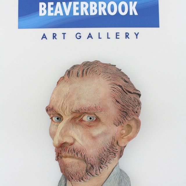 The Beaverbrook Art Gallery (@beaverbrook_ag) in Fredericton New Brunswick has one of the most impressive collections of International and Canadian art in Atlantic Canada including the enormous Santiago El Grande by Salvador Dali two Warhols a small Matisse and currently an exhibition by indigenous artist Alex Janvier. Although the gallery doesn't have any Van Gogh's a larger than life bust of the painter greets visitors at the entrance to the gallery cafe which - to the kids' delight- sells…