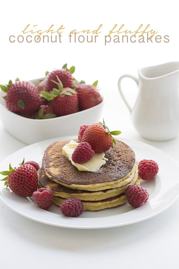 The best low carb coconut flour pancakes are now even better! THM LCHF Keto Banting recipe.
