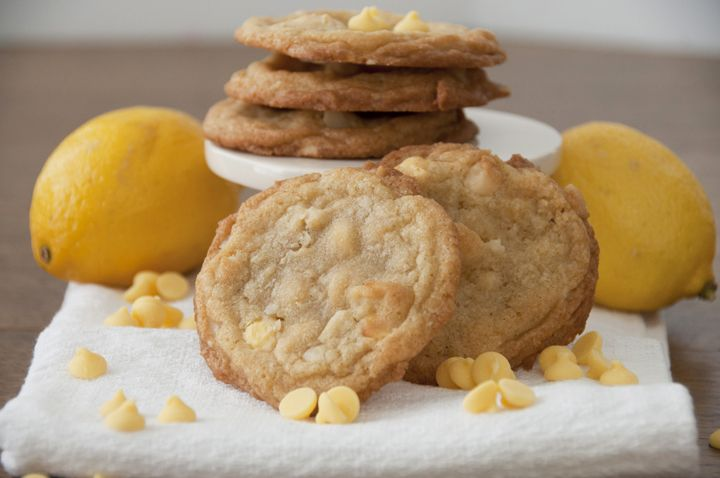 Lemon Chip Macadamia Nut Cookies | Wishes and Dishes