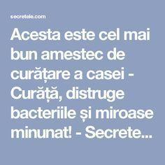 Acesta este cel mai bun amestec de curățare a casei - Curăță, distruge bacteriile și miroase minunat! - Secretele.com