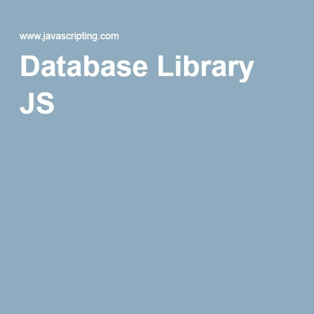 Database Library JS
