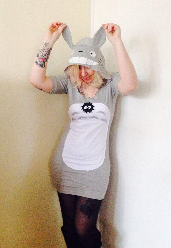 Hooded Totoro Dress Made to Order studio Ghibli by CherryPiePunk, £35.00