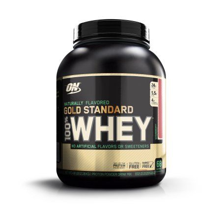 Optimum Nutrition 100% Natural Whey Gold Standard Strawberry 4.80LB, Brown