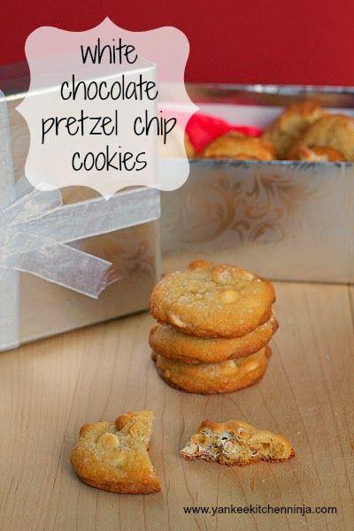 White chocolate pretzel chip cookies -- from the Yankee Kitchen Ninja